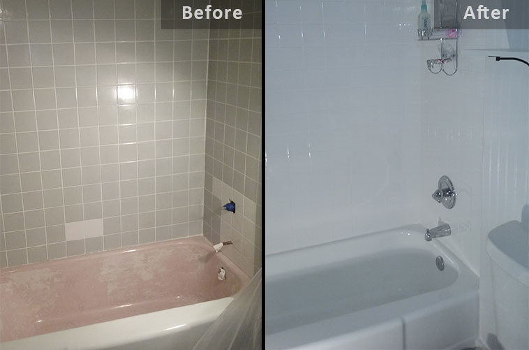 Surface Genie bathtub refinishing process and before and after ...
